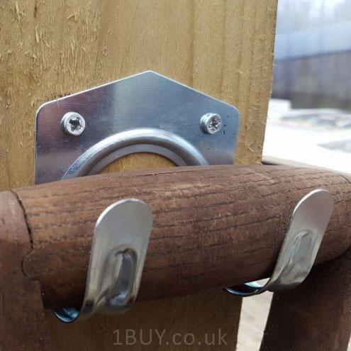 Buy 10 shed hooks wall storage workshop tool garden garage for Garden shed hooks