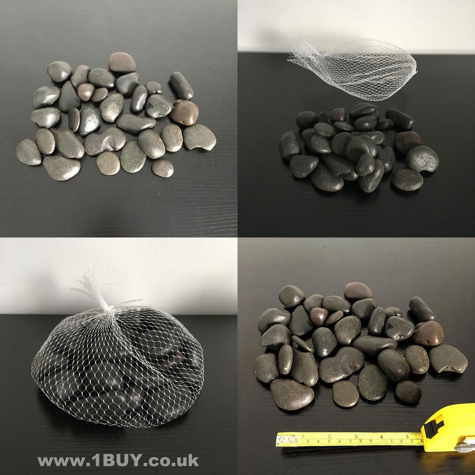 Black Decorative Stone : Kg black decorative stones for vases natural craft