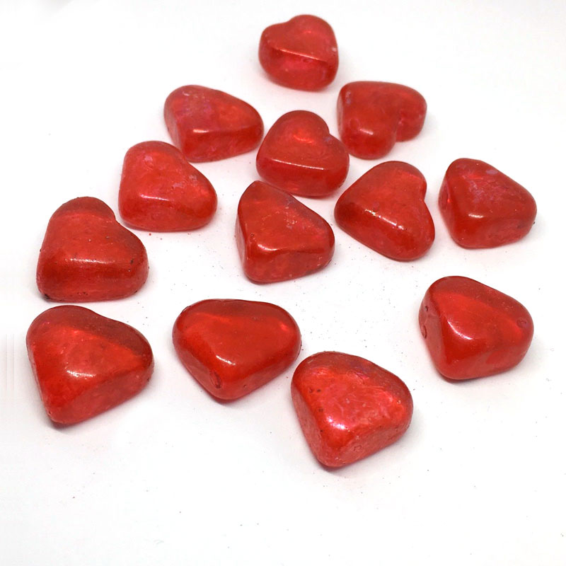 Red heart decorative glass hearts pebbles stones table decoration red heart decorative glass hearts pebbles stones table decoration love shape junglespirit Image collections