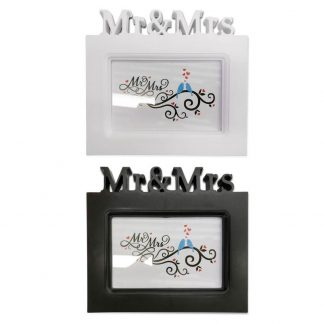 mr and mrs wedding frames in white or black