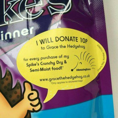 Spikes Tasty Semi-Moist Hedgehog Food Hog 550g donation