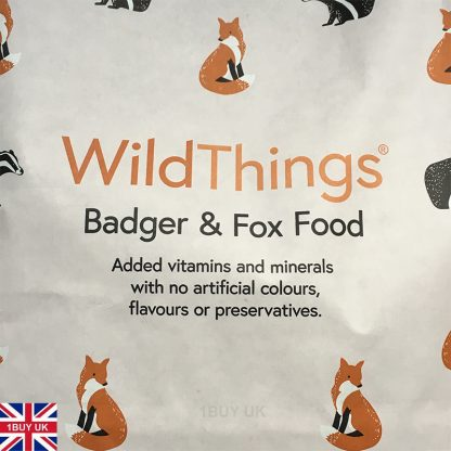 WildThings Badger & Fox Food 2Kg Feed - Front logo