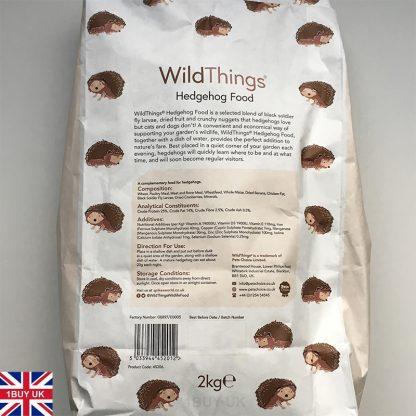 WildThings Hedgehog Food 2kg Feed - Back