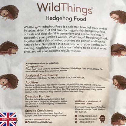 WildThings Hedgehog Food 2kg Feed - Ingredients