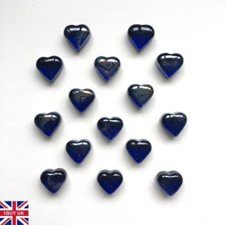 Blue Heart Decorative Glass HEARTS Pebbles Stones Table Decoration Love Shape