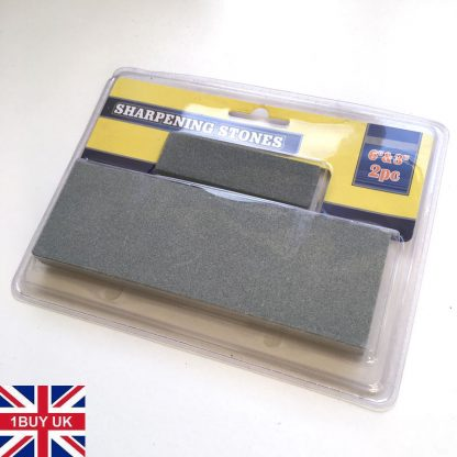 2x SHARPENING STONES for Scissors / Knives / Chisel Tools / Blades Wetstone Sharpener